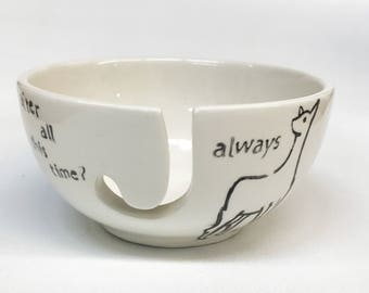 Yarn Bowl Harry Potter - Snape and Lily Always ceramic