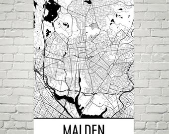 Map of malden Etsy