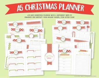 A5 Christmas Planner Bundle/Kit