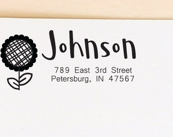 address stamp, return address stamp, self inking stamp, wedding gift, graduation gift, thank you stamp, mothers day gift, wedding stationery