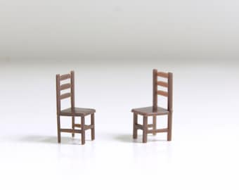 Micro Mini Chairs, Miniature Chairs, Dollhouse Chairs, Micro Mini Furniture, Micro Mini Dollhouse, Tiny Chairs, Set of Chairs Pair of Chairs