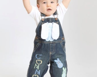 Personalized Easter Bunny Overalls