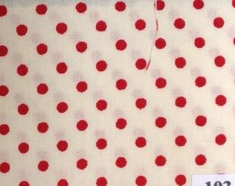 Japanese cotton poplin, polka dots nr103