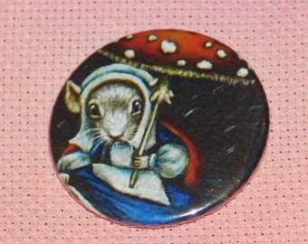 CLEARANCE, Seconds stock, Mouse Needle Minder, Licensed, Cross Stitch Keeper, Tanya Bond Art, Fridge Magnet, Button Magnet, Pin Holder