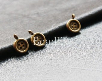 30pcs / Button / Pendant / Antique Brass / Base Metal / Charm (YB14135//D359)