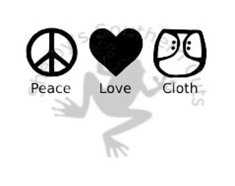 Peace Love & Cloth SVG file