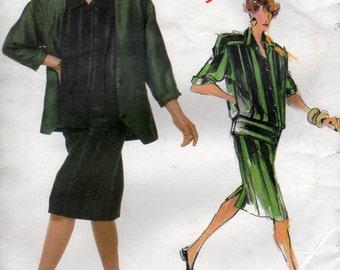 Tamotsu Skirt Suit Pattern for Vogue Individualist 1986 (Size 8)