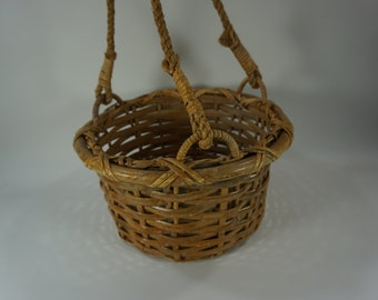 Hanging Basket Planter, Hanging Plant Basket, Basket for Plants, Round Basket Planter, Plant Holder, Garden Basket, Plant Basket Free Ship