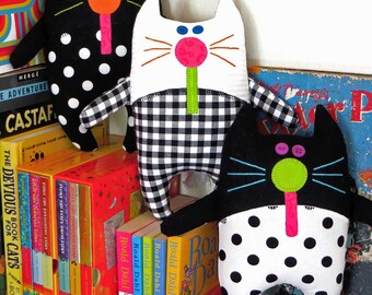 Catnip Kitties PDF Soft Toy Pattern | Cat Pattern | Patterns | Kids | Cat Toys | Cats | Kids | Dolls | Cloth Dolls | Kids Cloth Dolls