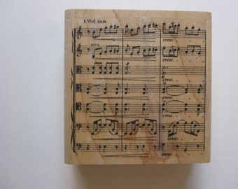 vintage rubber stamp - MUSIC rubber stamp