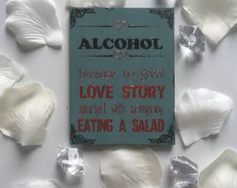 Alcohol love story magnet