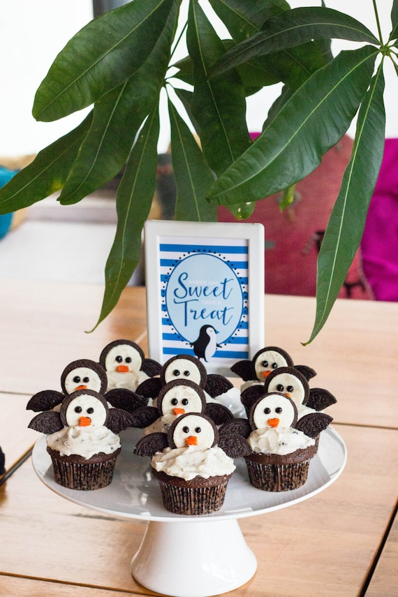 Elegant Penguin Baby Shower Decorations Arctic Themed