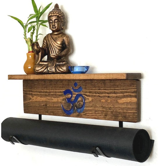 The Original Yoga Mat Holder-Premium Carved Decor