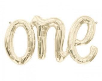 Giant One Script balloon - 1st Birthday Party Balloon - Baby Birthday decorations