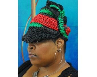 Gele 3 Raffia. Crochet Hat. Gele Hat. Wraps. Loc hat. Dreadlock Hat.  Ta Ankh.