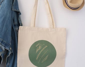 "Sac 100% coton Tote bag ""Green Collection"", only for earth lovers"