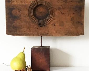 SPRING TIME:found object assemble, sculpture, folk art, assemblage