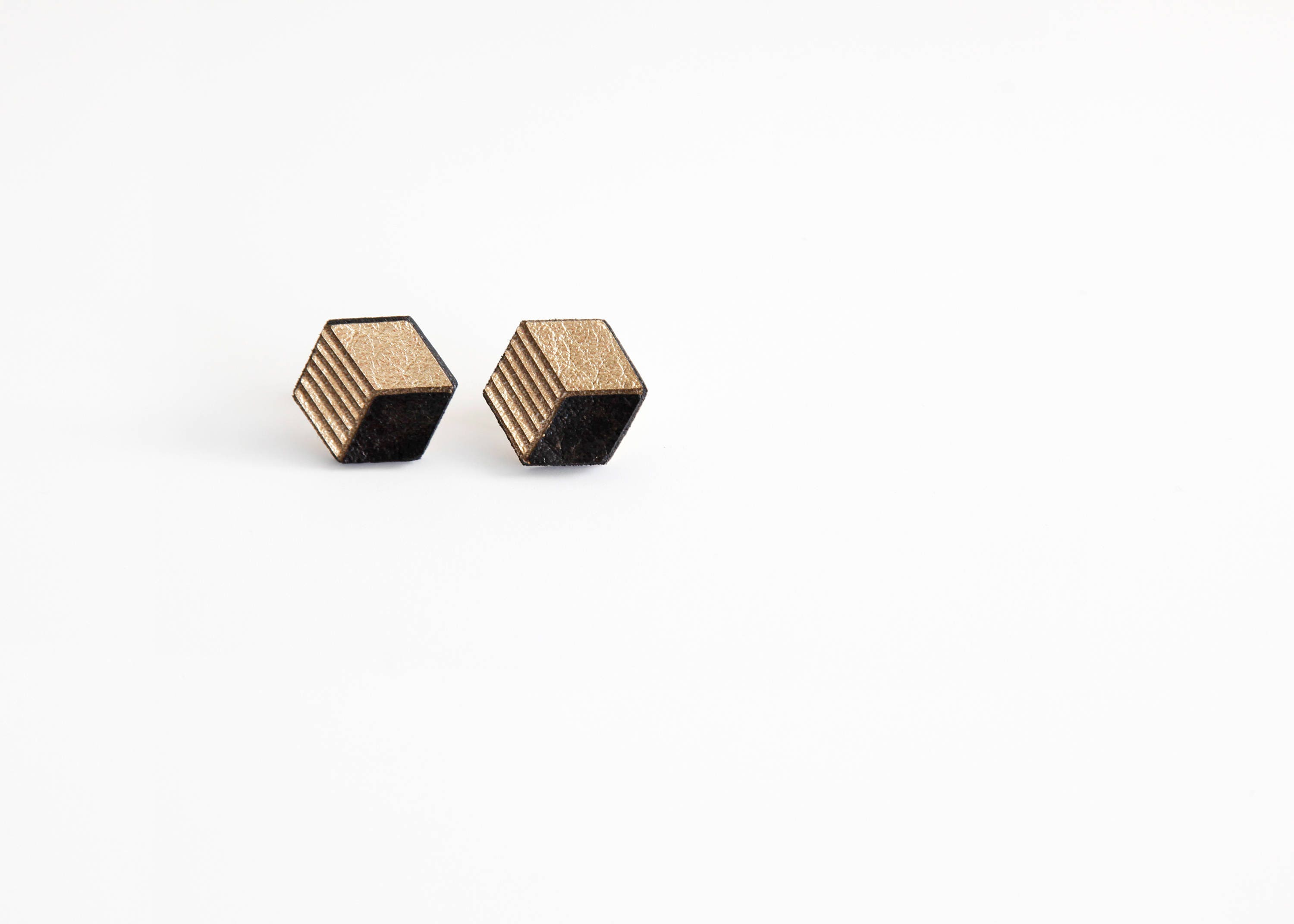 earrings torched collections jewellery small workshop brass frosted products hexagon boutique studio