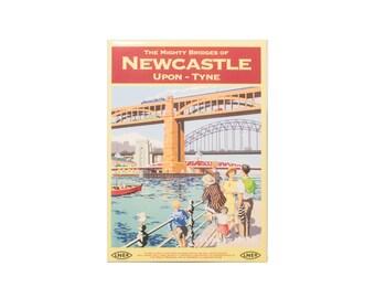 Magnet. Newcastle Mighty bridges. Newcastle upon Tyne