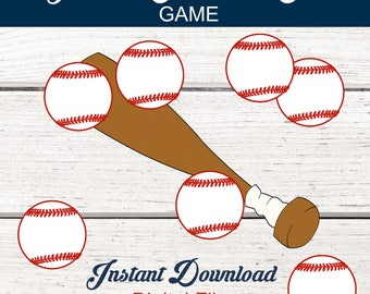 Baseball Party Game. Pin the Ball on the Bat. Baseball Birthday Party Game. Baseball Baby Shower Game. Baseball. Baseball Bat. Decoration
