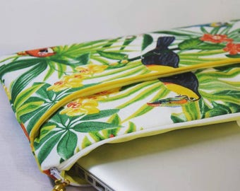 Ipad cover - Cover tablet with tropical - custom - personalized gift-Christmas gift for woman