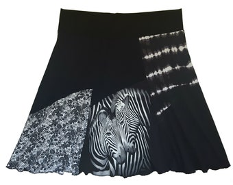 Plus Size Zebra Skirt 3X 4X Skirt Plus Size Clothing Upcycled Recycled Repurposed Best Selling Twinkle Skirt Twinklewear
