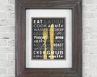 Fork Knife Decor   Kitchen Prints   Kitchen Sign Poster   Subway Art   Dining  Room