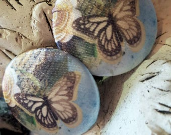 """Button collection """"Flashy"""" Papillon""""by 32 mm, with satin N6"""