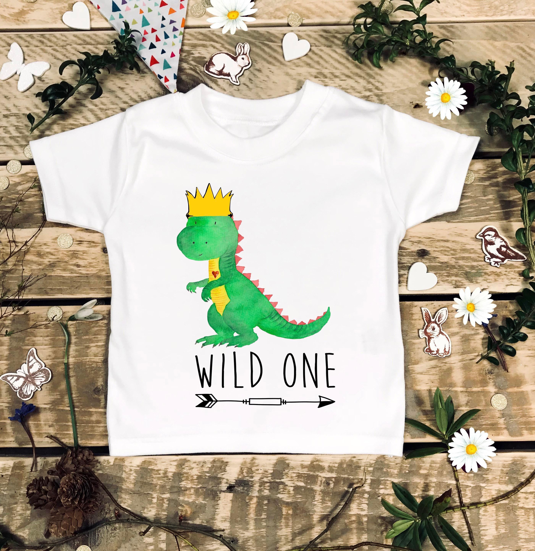 Wild e 1st Birthday Dinosaur Birthday Shirt Dinosaur Cake Smash