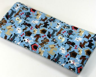 DOGS fabric bag, Sunglasses case, Eyeglasses case, Fabric bags, Different breed dog bag
