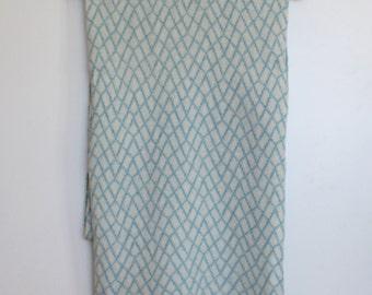 Shawl / Wrap Stone Wall Pattern Baby Blue Merino Lambswool Scarf