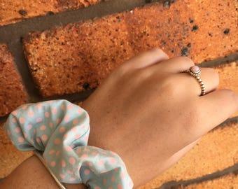Retro Pink and Blue Scrunchie