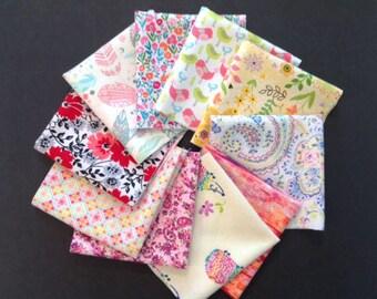 Ladies Handkerchiefs, Set of 10, Prints, Modern,Flannel Handkerchiefs, Reusable Tissues,Paperless Hankies,Womens Handkerchief WH830