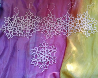 Iridescent glitter Snowflakes