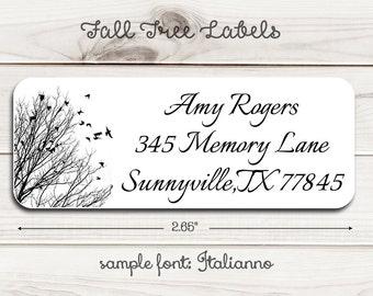Fall Tree Return Address Labels