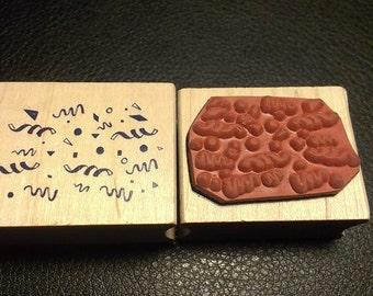 Confetti Rubber Stamp