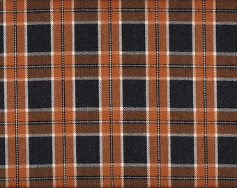 Plaid L11801-02 in reddish brown-black