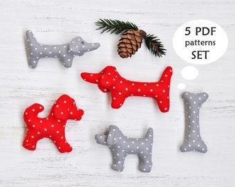 Dog Sewing Pattern PDF. Christmas Sewing Projects. Dachshund Sewing Pattern. Christmas Sewing Pattern. Puppy Sewing Pattern. Xmas Ornament