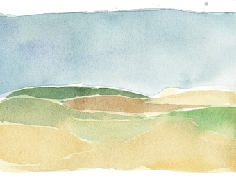 Field. Original watercolor