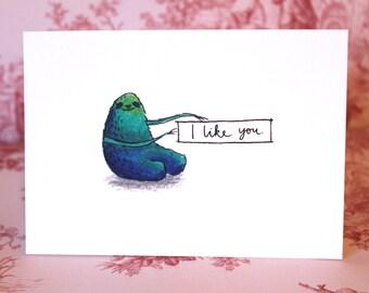 Cute Sloth Valentine's Card