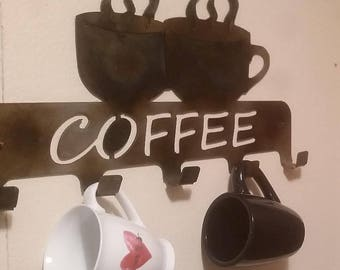 Coffee cup holder sign
