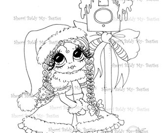 INSTANT DOWNLOAD Digi Stamps Big Eye Big Head Dolls Digi Bestie IMG958 By Sherri Baldy