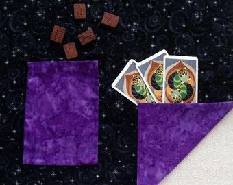 Tarot Cloth. Viking Festoon Jewely Cloth. GALAXY MAGICK.  Extra Large. Reversible spread cloth for tarot cards, runes & altar.
