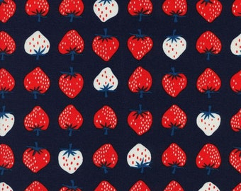 Strawberry in red from the Yours Truly fabric collection by Kimberly Kight for Cotton and Steel  - 3040-03