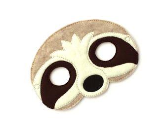 Kids Sloth Mask, Sloth Costume, Sloth Mask, Felt Mask, Kids Face Mask, Animal Mask, Halloween Costume, Pretend Play, Dress Up, Party Favors