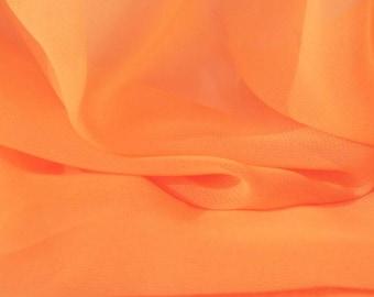 Orange Sherbet Chiffon Fabric - 44 Inches Wide