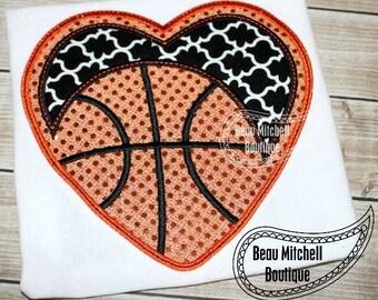 Basketball heart triple bean stitch