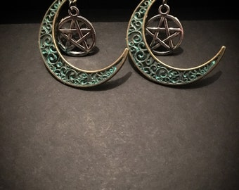 Luna Pentacle Earrings