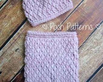 Crochet PATTERN - Baby Crochet Pattern - Crochet Baby Pants Pattern - Crochet Hat Pattern - Photo Prop Patterns - Instant Download PDF 294