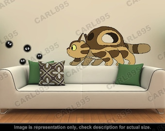 Totoro Inspired - Little Catbus / Soot Sprites Wall Art Applique Stickers